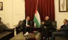 دبور التقى الامين العام المساعد للجبهة الشعبية القيادة العامة
