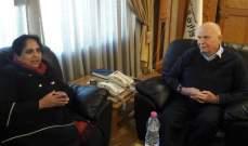 كبارة بحث مع سفيرة سريلانكا سبل تنظيم اليد العاملة في لبنان