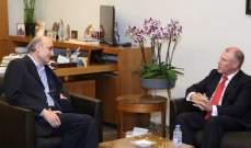رئيس حزب القوات التقى الممثلة الخاصة للأمين العام للأمم المتحدة