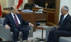 الرئيس عون استقبل سفير باكستان لمناسبة انتهاء مهامه في لبنان