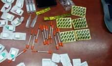 مفرزة إستقصاء بيروت أوقفت مروجا و3 متعاطين وضبطت كمية من المخدرات الم