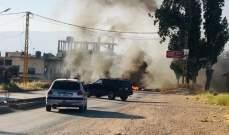 النشرة: احراق الاطارات على مدخل بعلبك واقفال الطريق احتجاجا على مداهمات الكنيسة