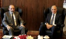 الصراف بحث مع الشريف بالأوضاع العامة في لبنان والشمال