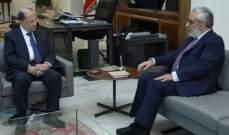 الرئيس عون عرض مع بقرادونيان الاوضاع العامة