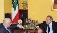 ابو سعيد التقى لحود وعرض معه أخر المستجدات في المنطقة