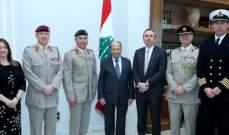 الرئيس عون لوفد بريطاني:من حقنا الدفاع عن انفسنا في وجه اي اعتداء اسرائيلي