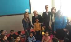 حماده جال ووزير خارجية موناكو على مدرسة طريق الجديدة بإطار دعم لبنان للاستجابة للأزمة السورية