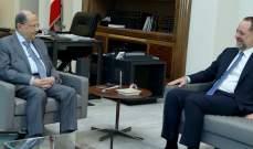 الرئيس عون التقى خير الدين وعرض معه للأوضاع العامة