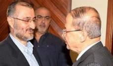 """""""الشرق الأوسط"""": وفيق صفا زار الرئيس عون لبحث العلاقة بين التيار الوطني وحزب الله"""