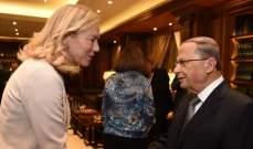 كاغ أكدت لعون إلتزام المجتمع الدولي بالحفاظ على أمن لبنان وسيادته