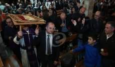 وزير الدفاع يشارك برتبة جناز المسيح في الشوير وعين السنديانة