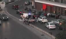 التحكم المروري: جريح بحادث صدم محلة عين المريسة على تقاطع عبد الناصر