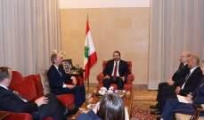 الحريري عرض مع بيدرسون الاوضاع في لبنان والمنطقة وموضوع النازحين السوريين