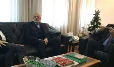 جريصاتي بحث مع شهيب وأبو فاعور بموضوع الحكومة والأحداث الأخيرة والتقى سفير الجزائر