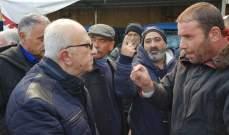 وفد من اتحاد نقابات العمال والمستخدمين لبنان الجنوبي تفقد قطاعات تأثرت بالعاصفة في صيدا