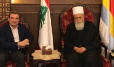 الشيخ حسن عرض التطورات والأوضاع العامة مع أبو فاعور