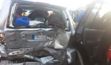 4 جرحى في تصادم بين سيارتين رباعيتي الدفع في الخرايب