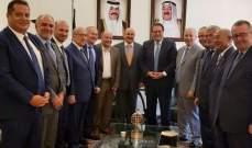 وفد من الهيئات الاقتصادية والعمالي زار القناعي: لبنان يحرص على أفضل العلاقات مع الكويت