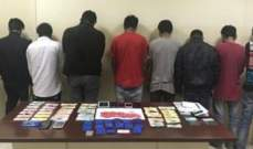 شعبة المعلومات أوقفت عصابة بنغلادشية لترويج وتعاطي مخدرات وضبطت كمية منها