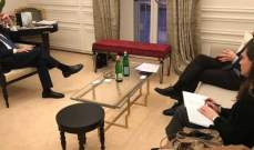 الصراف بحث مع نظيره المغربي مشاركة المغرب في مؤتمر روما