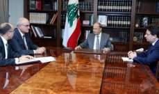 الرئيس عون عرض الأوضاع المالية مع علي حسن خليل وابراهيم كنعان