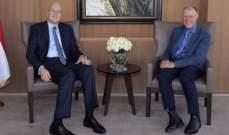 ميقاتي عرض مع السفير الاسترالي في لبنان التطورات الراهنة