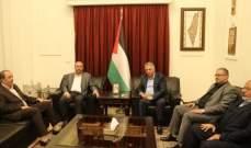 وفد من حماس التقى دبّور: لتعزيز وتفعيل العمل الوطني المشترك في لبنان