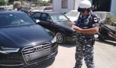 قوى الامن: توقيف شخص في بحمدون يسوق بسرعة جنونية