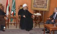 قبلان التقى سفير لبنان بأميركا: اللبنانيون قادرون المشاكل بفعل تشاورهم