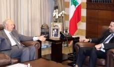 الحريري عرض مع الصفدي لآخر المستجدات السياسية والتقى عربيد والمطران عنداري