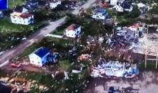 إصابة 130 شخصا بأعاصير عنيفة اجتاحت ولايتي أوهايو وإنديانا