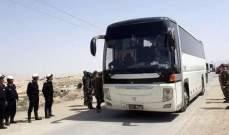 إستمرار خروج الحافلات التي تنقل المسلحين وعائلاتهم من قرى القلمون إلى الرحيبة