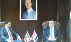 الغريب بحث مع وزير الادارة المحلية السوري ملف النازحين