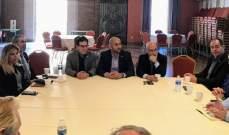النائب حبشي يلتقي ممثلي الجالية اللبنانية في لوس أنجلوس