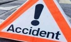 النشرة: جرحى نتيجة حادث سير بين سيارتين ودراجة نارية في النبطية الفوقا