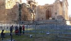 النشرة: بدء التحضيرات لمهرجانات بعلبك الدولية في قلعة بعلبك الأثرية