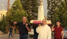 الأب عبده أبو كسم كرّس رعية مار مارون في بيصور لقلب مريم الطاهر
