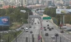 حركة المرور كثيفة من طبرجا باتجله جونية وفي ضهور العبادية