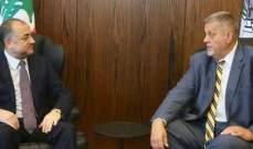 بو صعب المنسق الخاص للامم المتحدة جان كوبيس المنسق الخاص للامم المتحدة