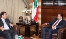 سفير مصر بعد لقائه الحريري: حريصون على استقرار لبنان
