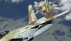 مقاتلات إسرائيلية تضرب أهدافا في غزة ردا على إطلاق صاروخين من القطاع