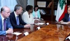 الرئيس عون بحث مع وفد صندوق الأمم المتحدة للسكان بالأوضاع في لبنان والشرق الأوسط