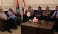 سعد التقى وفدا من الجبهة الديمقراطية لتحرير فلسطين: لوضع حدّ للخضات الأمنية