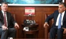 اللواء ابراهيم يستقبل مدير عام الشؤون السياسية في وزارة الخارجية والكومنولث البريطانية