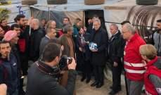 رئيس النمسا زار مخيمات النازحين السوريين في حوش النبي: نعمل على عودتهم إلى بلدهم