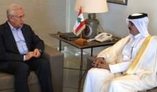 سليمان استقبل سفير قطر: وحدة الصف العربي تمنع المشاريع التخريبية