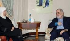 بهية الحريري التقت ابو زيد وعرضا الأوضاع العامة