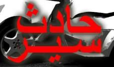 الدفاع المدني: جريحان اثر حادث سير على طريق عام سهيلة- كسروان