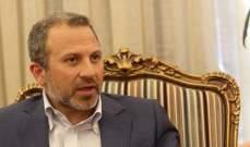 باسيل: سنسقط مخطط التوطين وسيعود الفلسطيني والسوري لارضه ودولته ووطنه