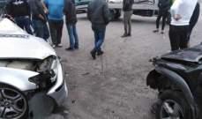 النشرة: جريحان بحادث سير بين 4 سيارات على بوليفار معروف سعد في صيدا